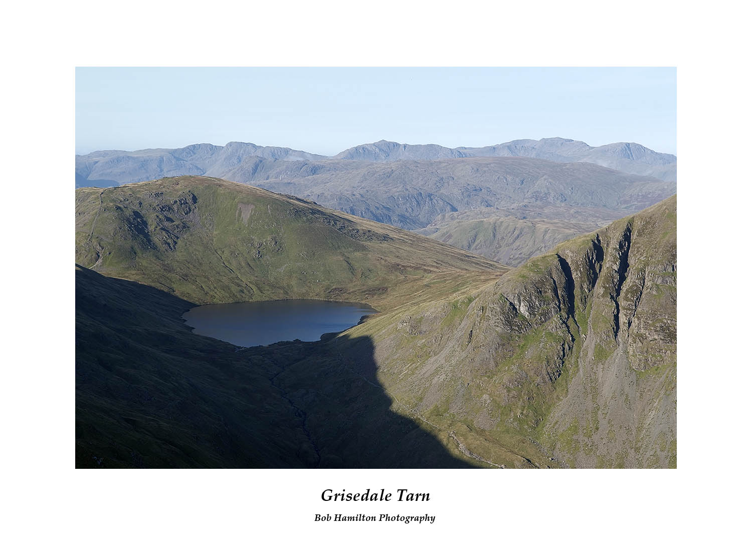 DSF1025 Grisedale Tarn and Seat Sandal from Deepdale Hause