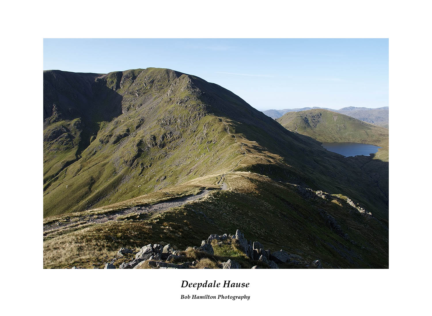 DSF1033 Fairfield Seat Sandal and Grisedale Tarn from Deepdale Hause