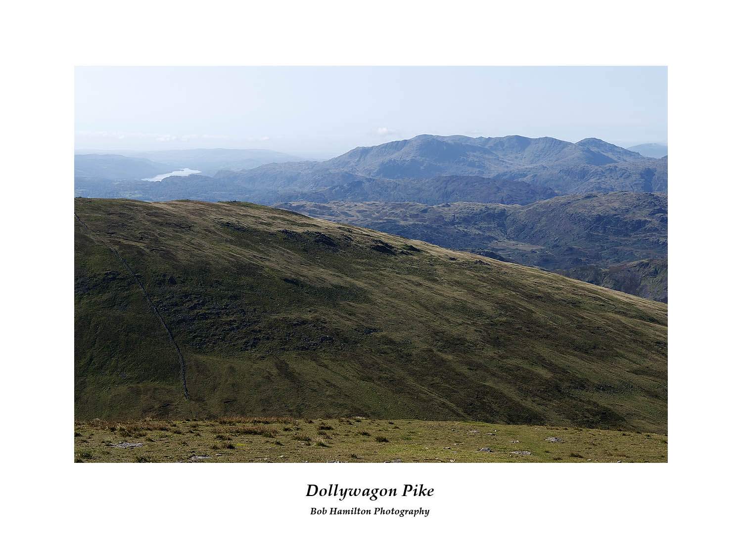 DSF1052 Wetherlam Coniston Old Man and Coniston Water from Dollywagon Pike