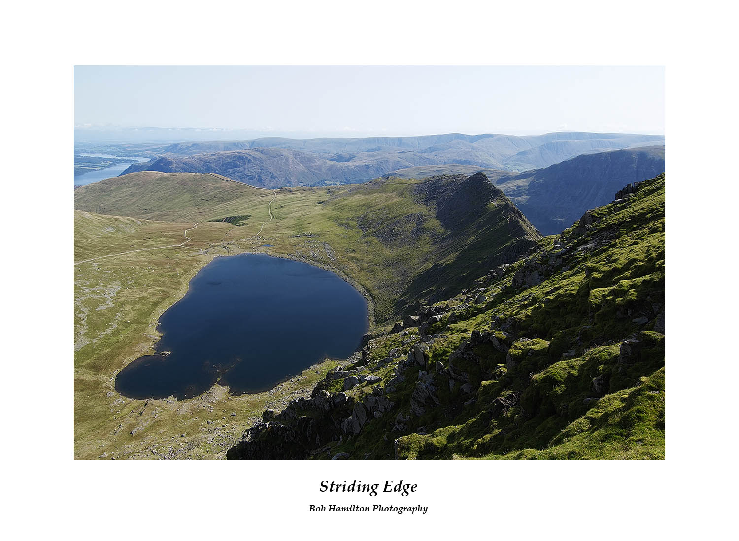 DSF1067 Red Tarn Striding Edge and a distant Ullswater from Helvellyn