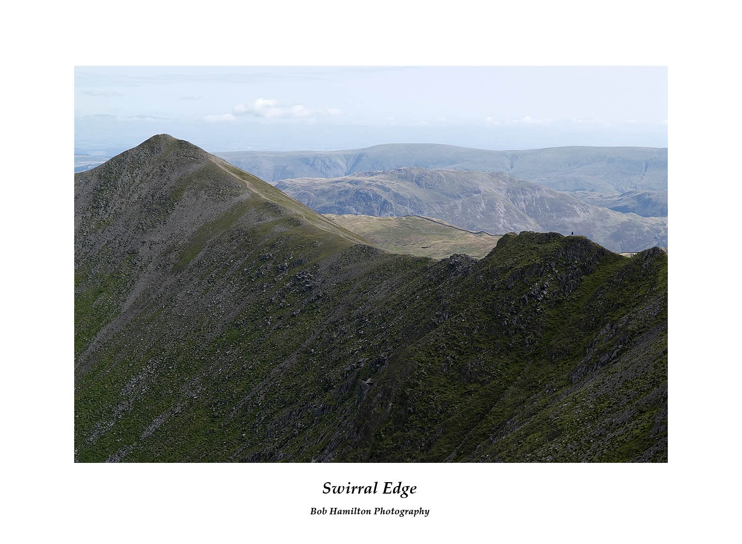 DSF1084 Walker on Swirral Edge seen from Helvellyn Lower Man