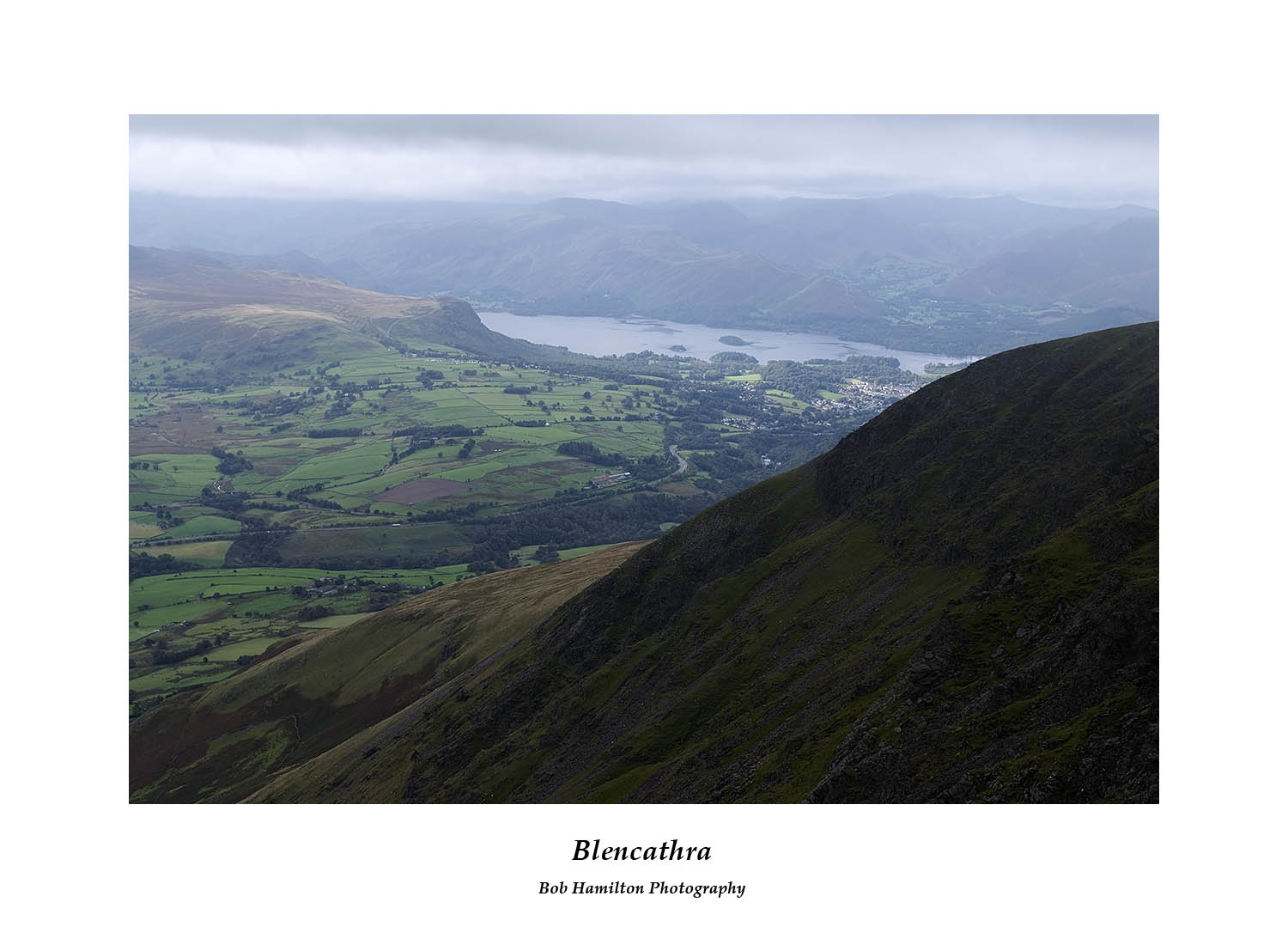 DSF1222 Keswick and Derwent Water over Knowe Cargs Blencathra