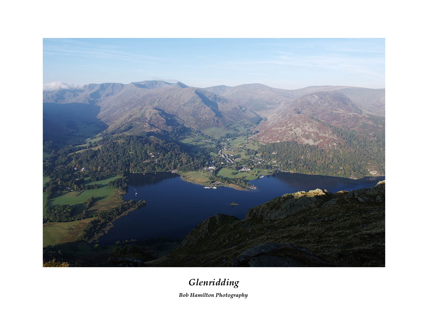 DSF1470 Glenridding and the Helvellyn massif over Ullswater from Place Fell
