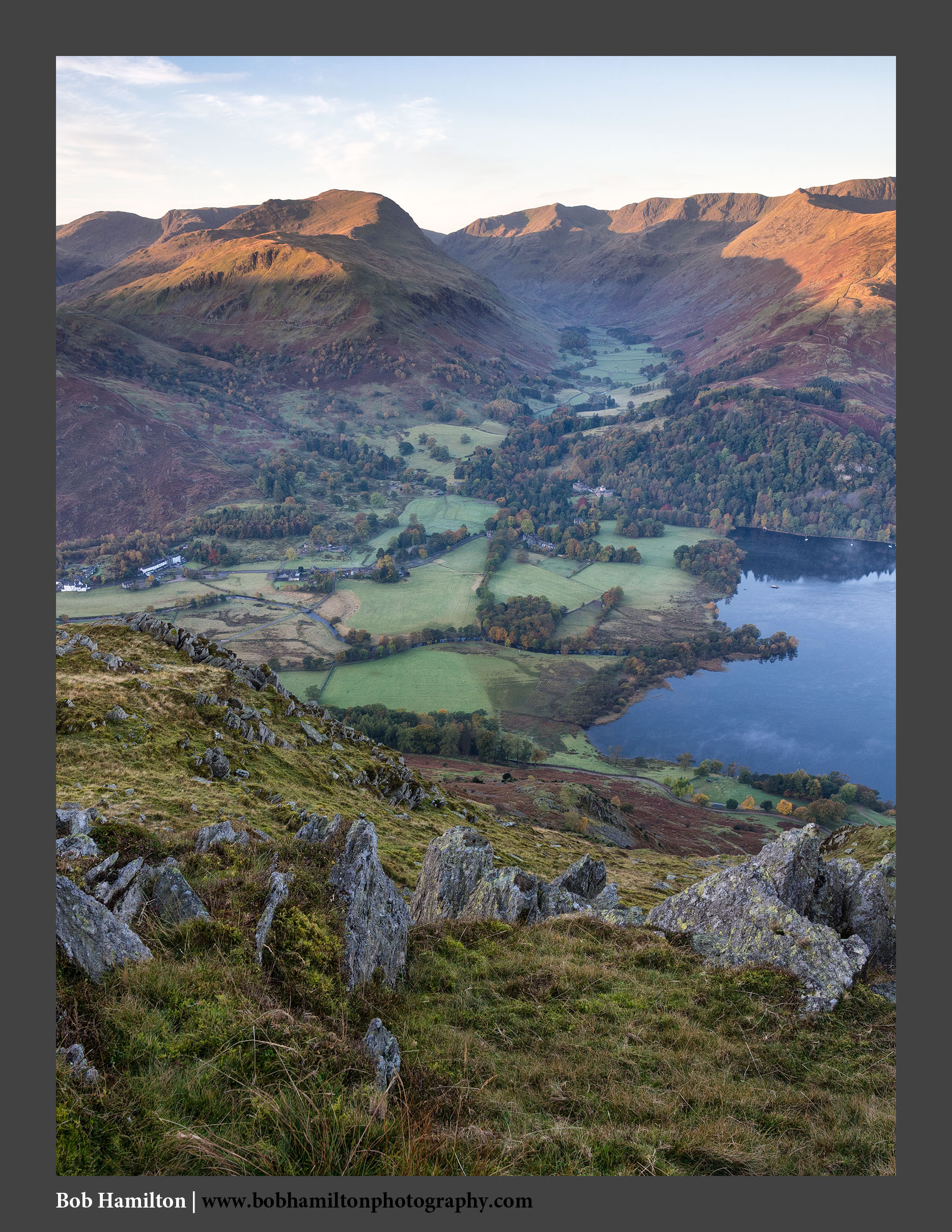 O126453 Daybreak on Glenridding St Sunday Crag Grisedale and the Helvellyn range from Place Fell