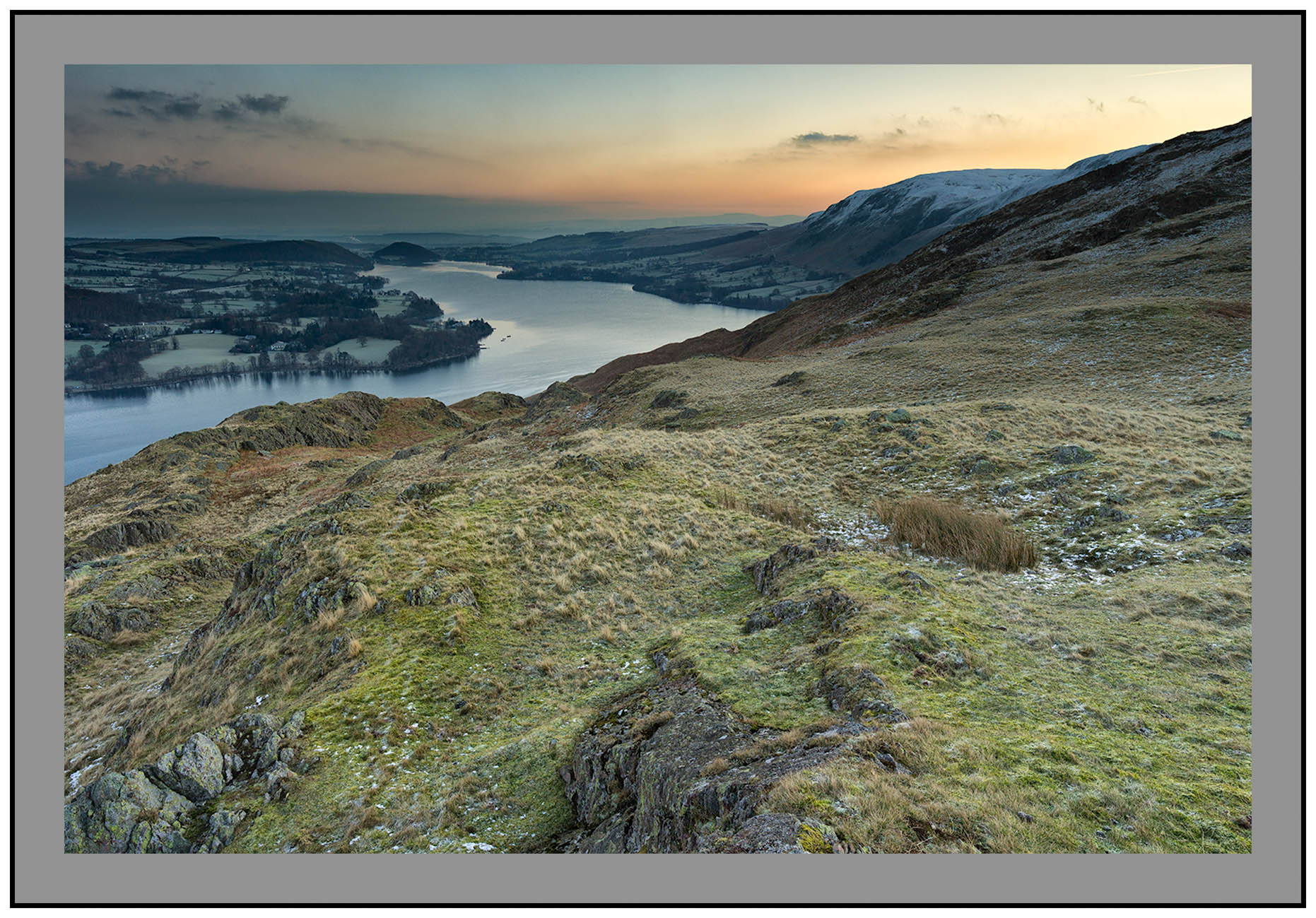 S2015259 Dawn over Ullswater and the Northern Pennines from Hallin Fell