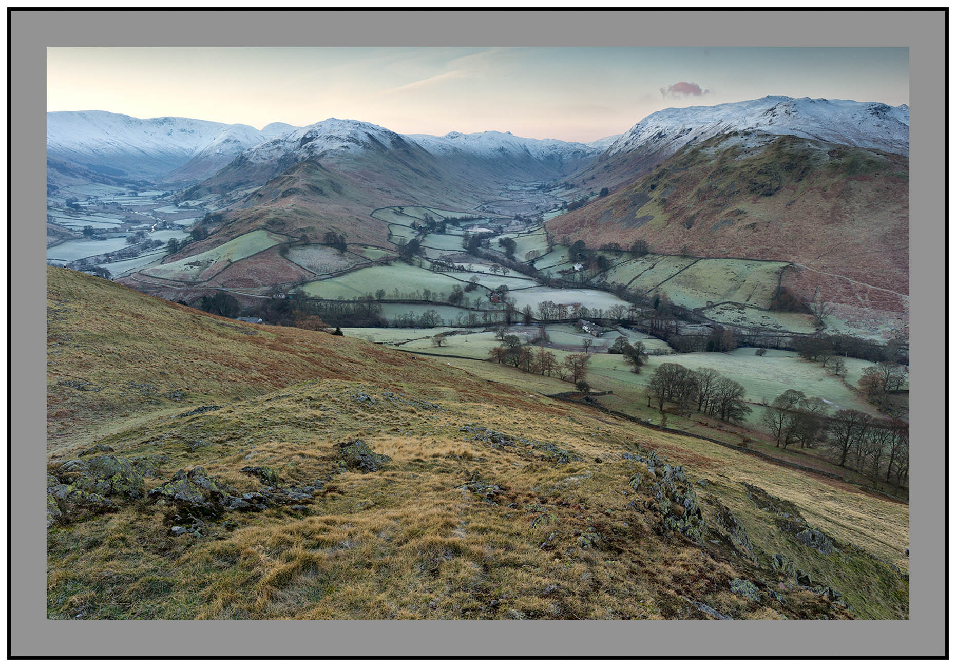S2015289 Dawn over Martindale and Boredale from Hallin Fell