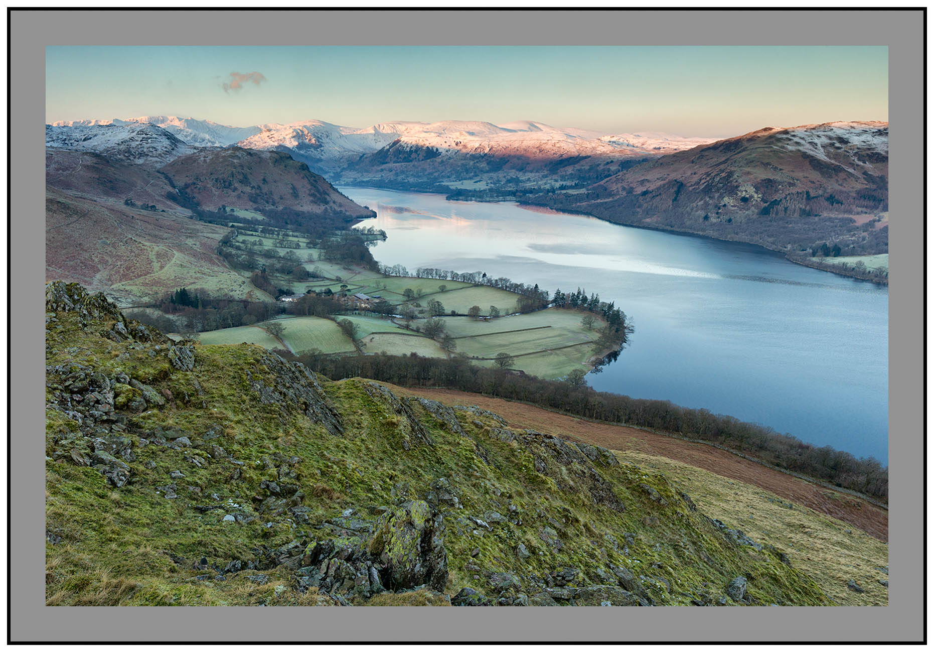 S2015339 Alpenglow bathes the Helvellyn Massif seen from Hallin Fell