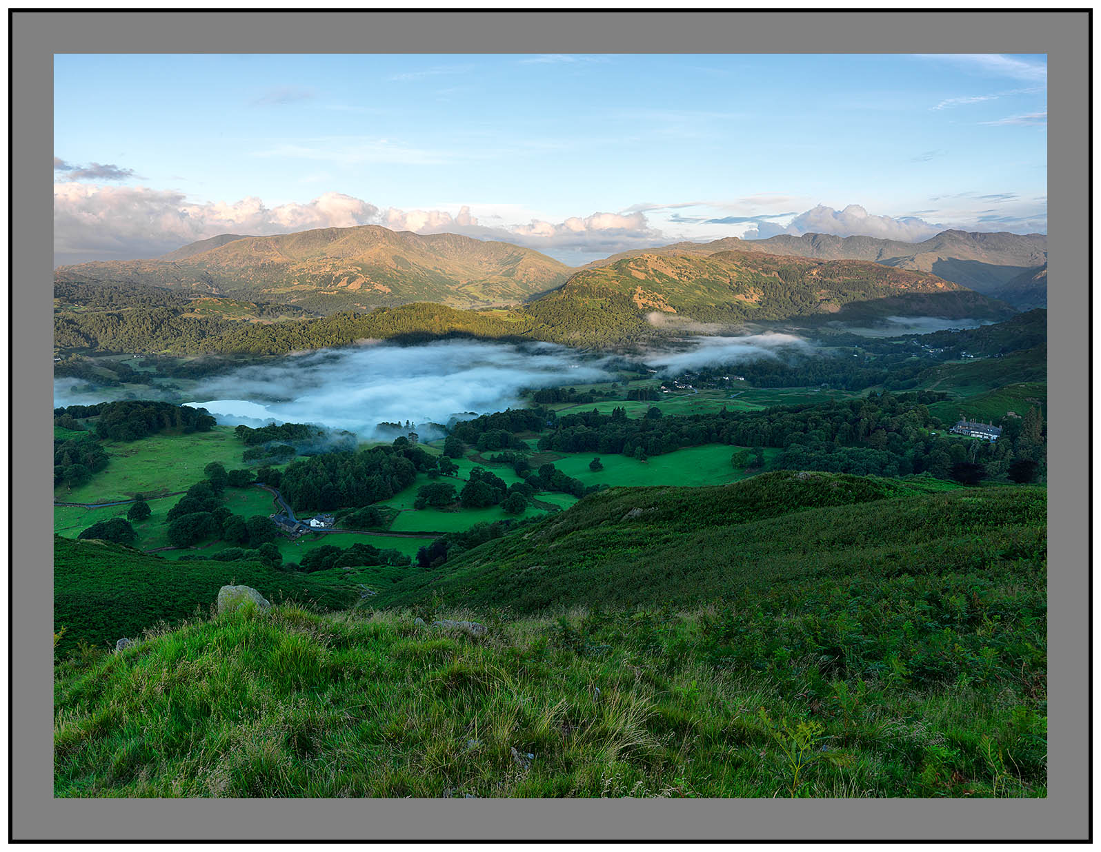 A9163 Early morning light on the Coniston and Langdale Fells