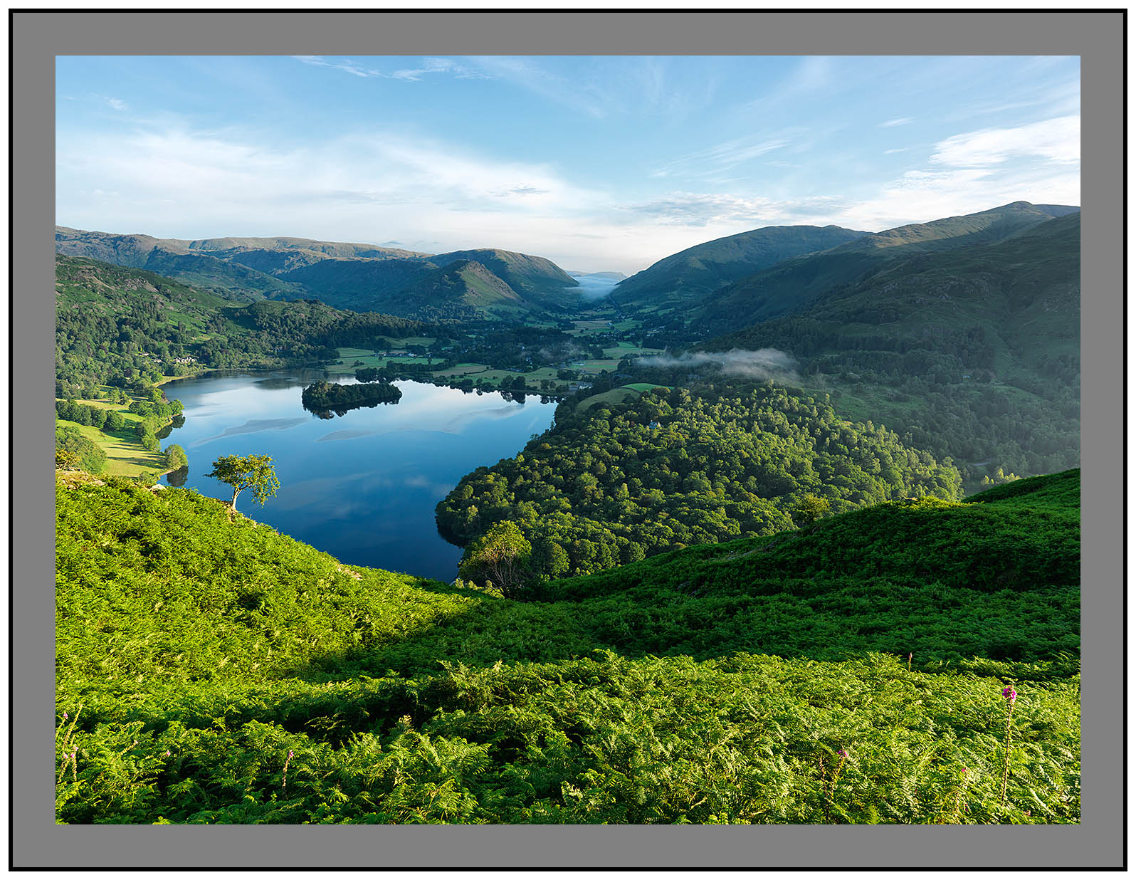A9214 Early morning light on Grasmere and Great Rigg