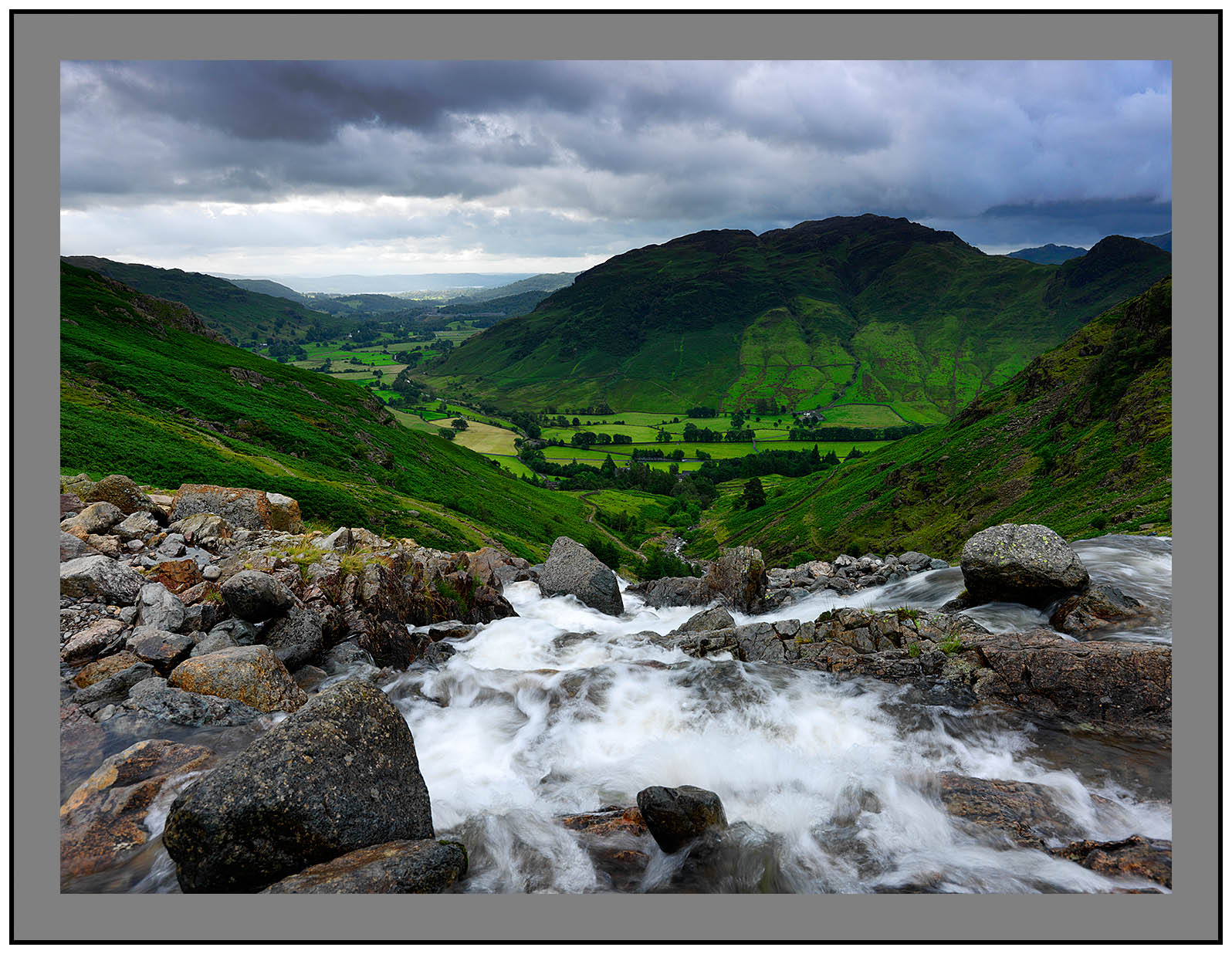 A 5358 The view down Stickle Ghyll to Lingmoor and Langdale