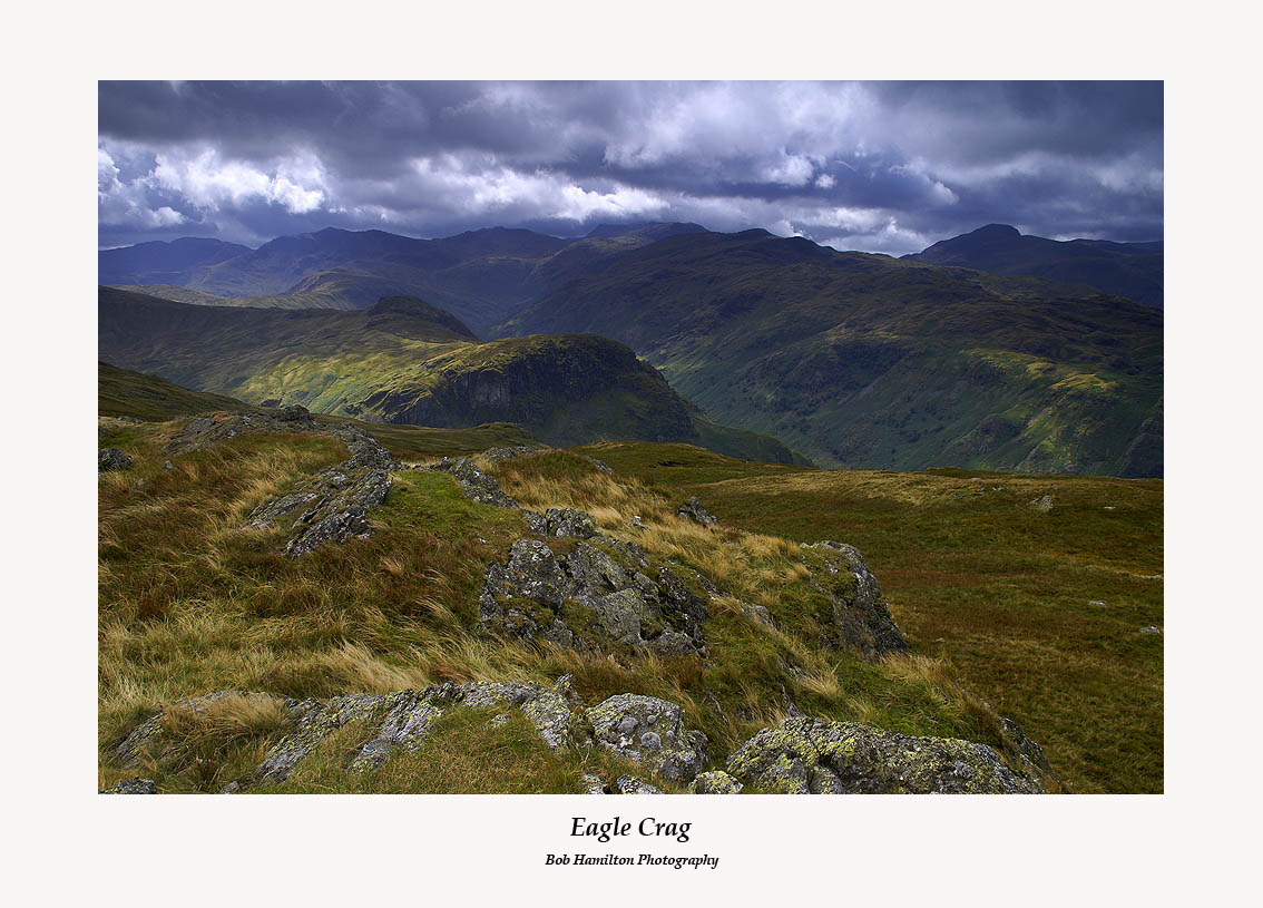 Eagle Crag and Langstrath from Coldbarrow Fell