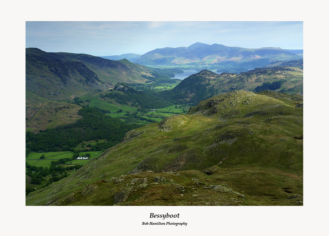 Borrowdale Skiddaw and Bessyboot from Rosthwaite Cam
