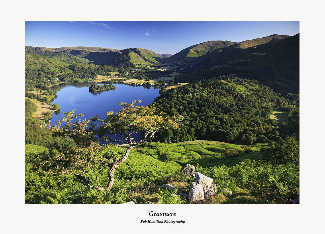 Grasmere Helm Crag Steel Fell Seat Sandal Stone Arthur and Great Rigg from Loughrigg