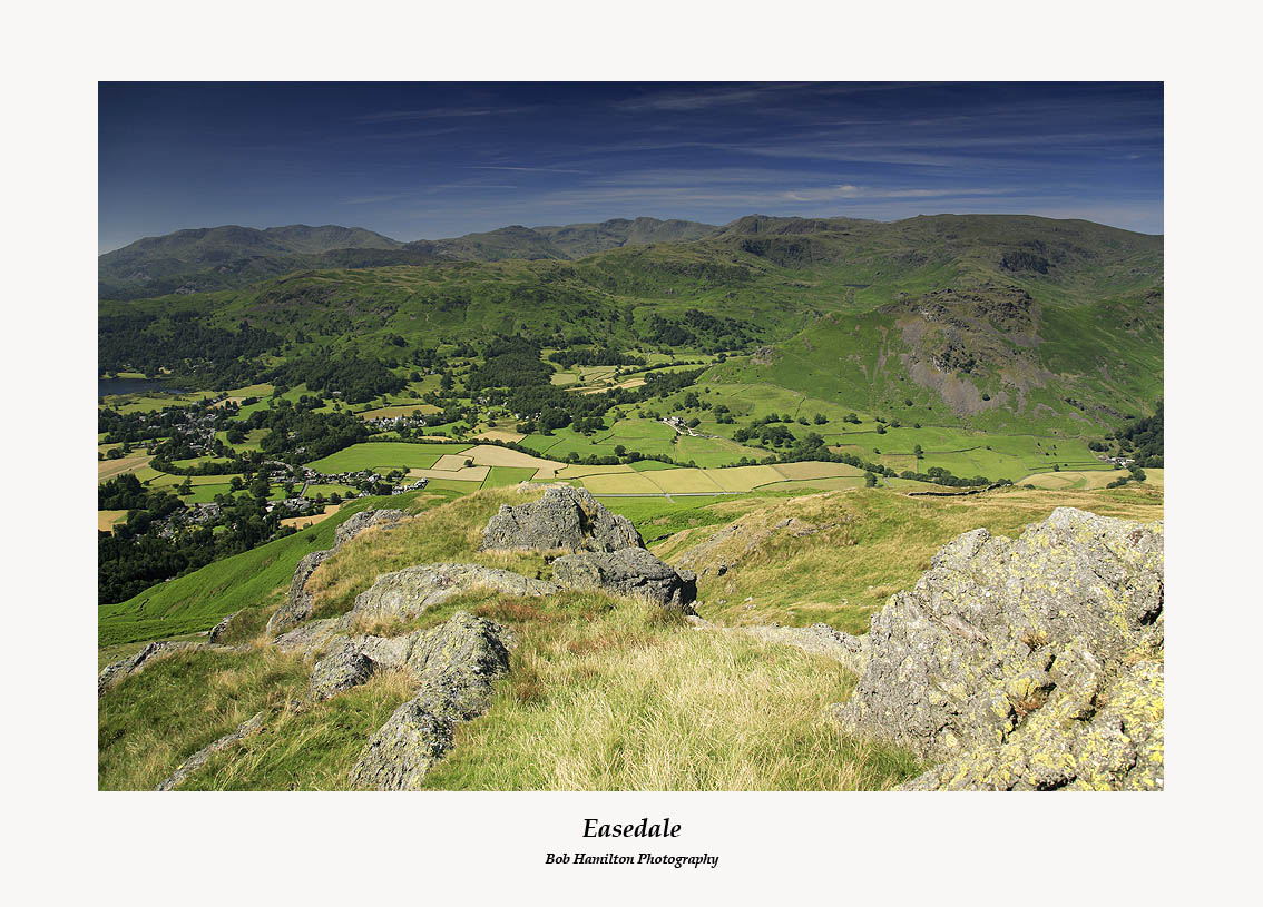 The Coniston Fells the Langdale Fells Easedale Sergeant Man and Helm Crag from Stone Arthur