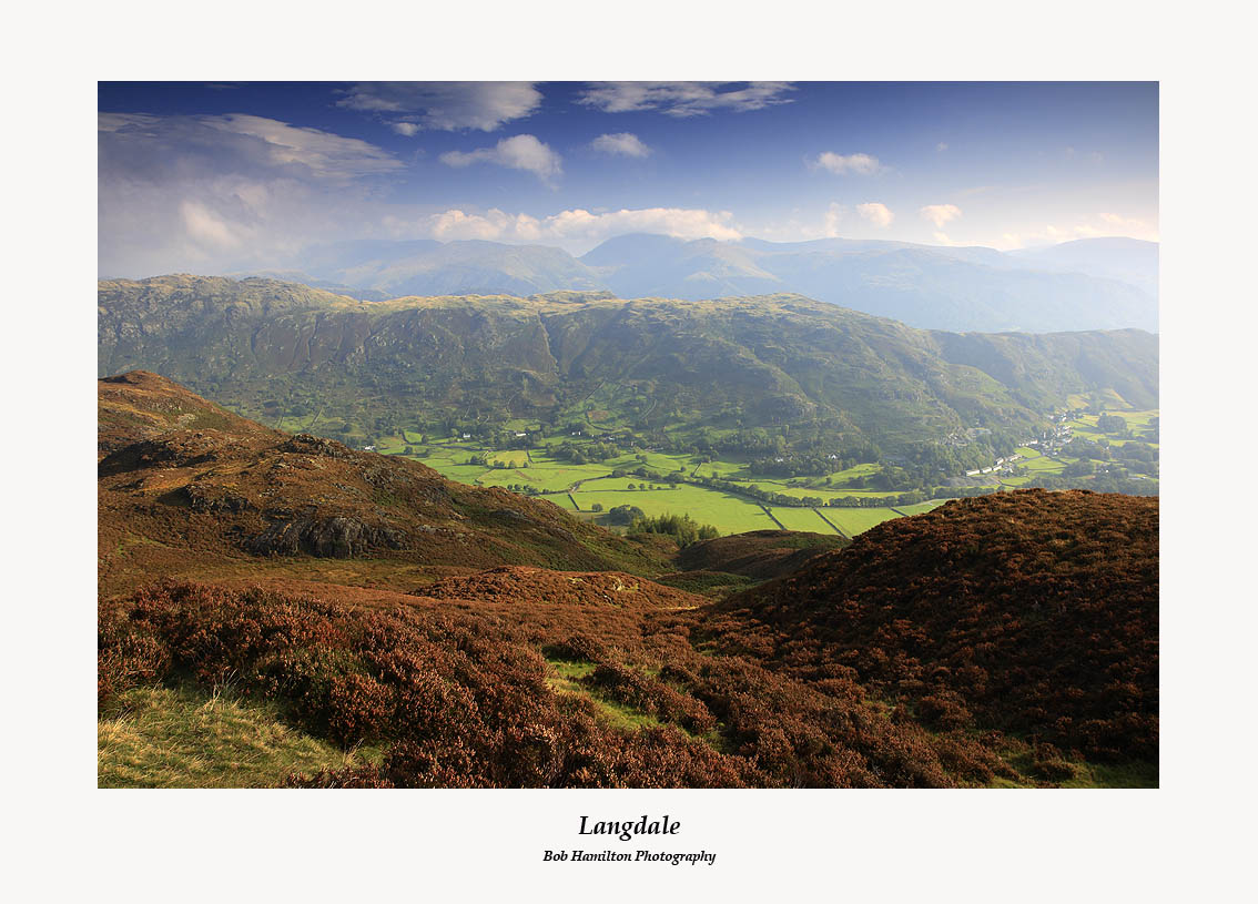 Langdale and Chapel Stile from Lingmoor Fell