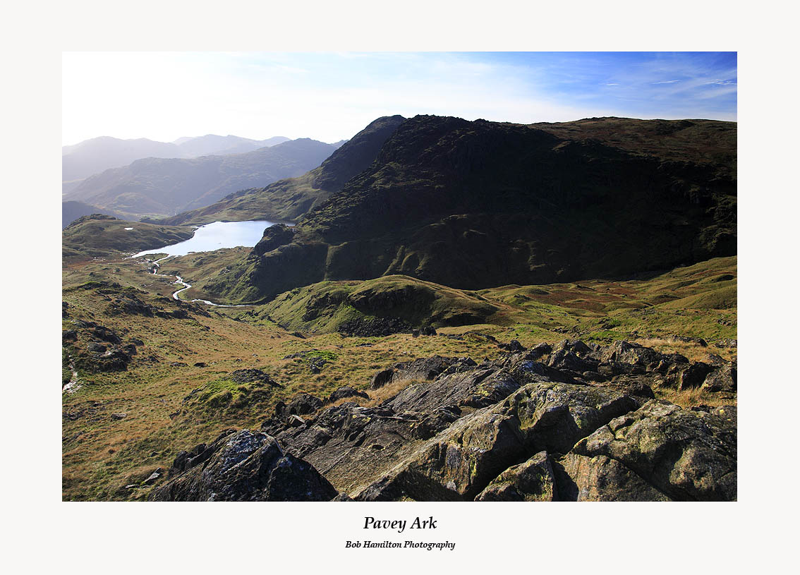 Stickle Tarn Pavey Ark and Harrison Stickle from Sergeant Man