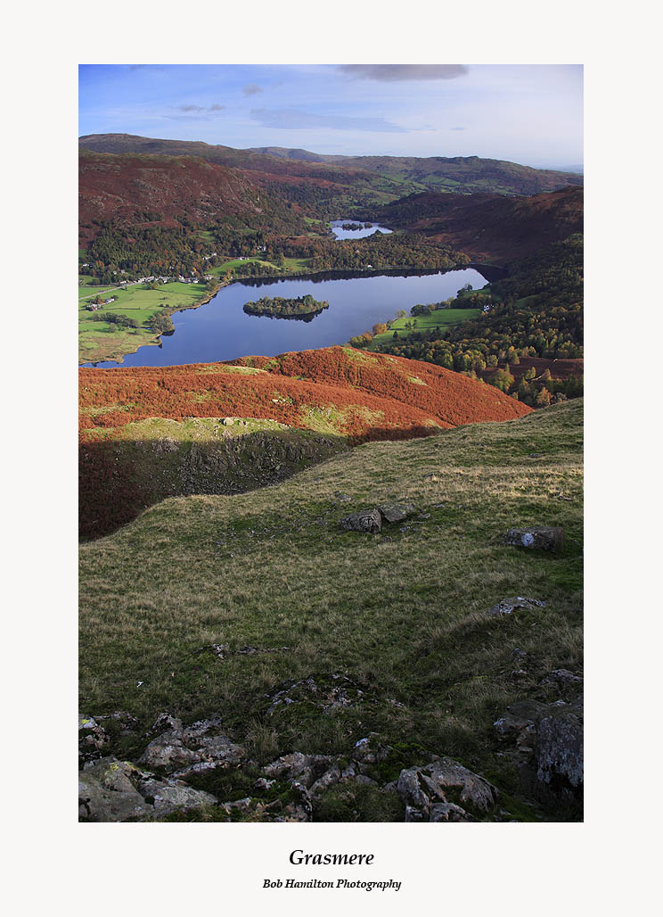 Grasmere and Rydal Water from Silver Howe