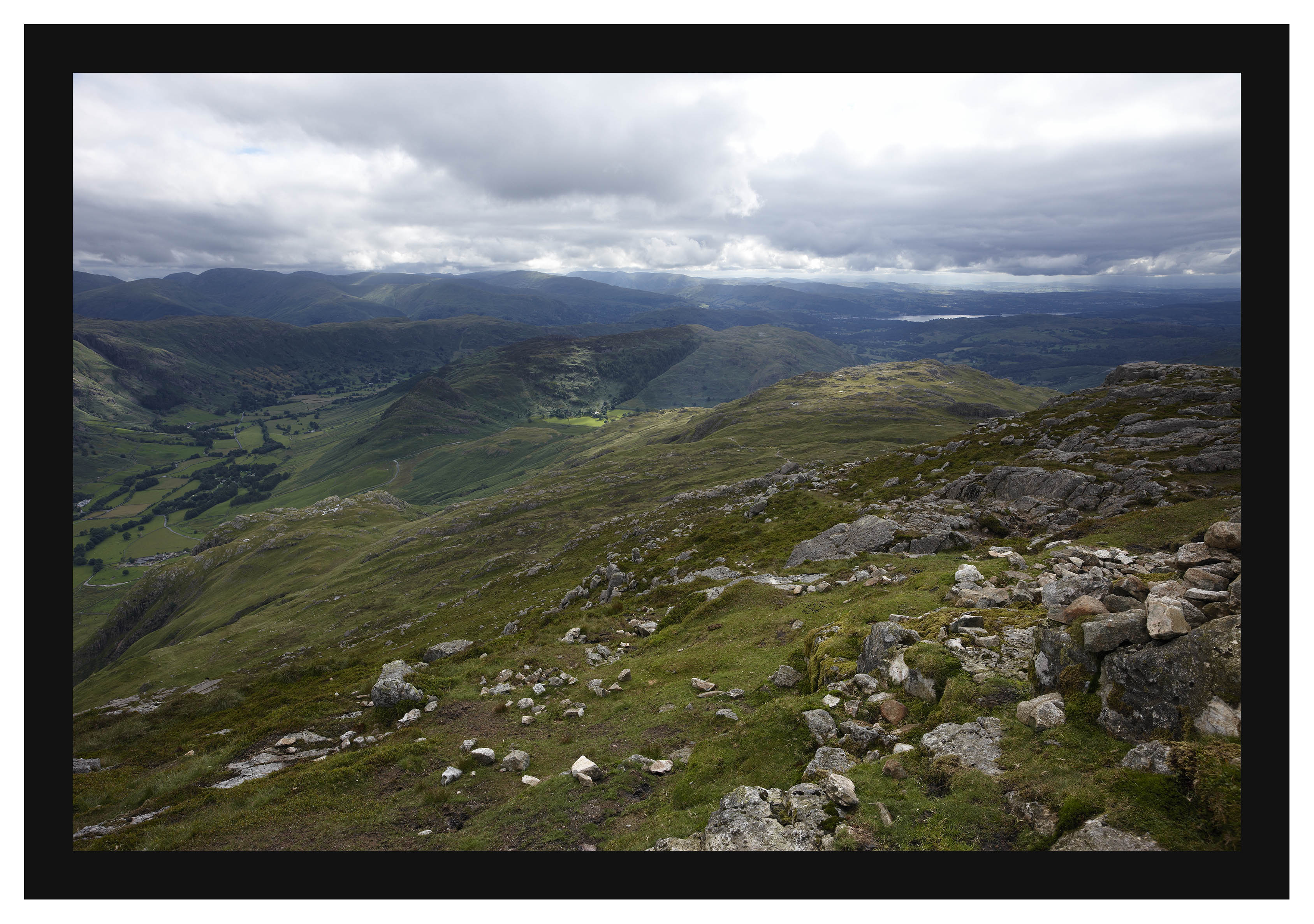 46E3998 Greater Langdale and Windermere from Pike of Blisco
