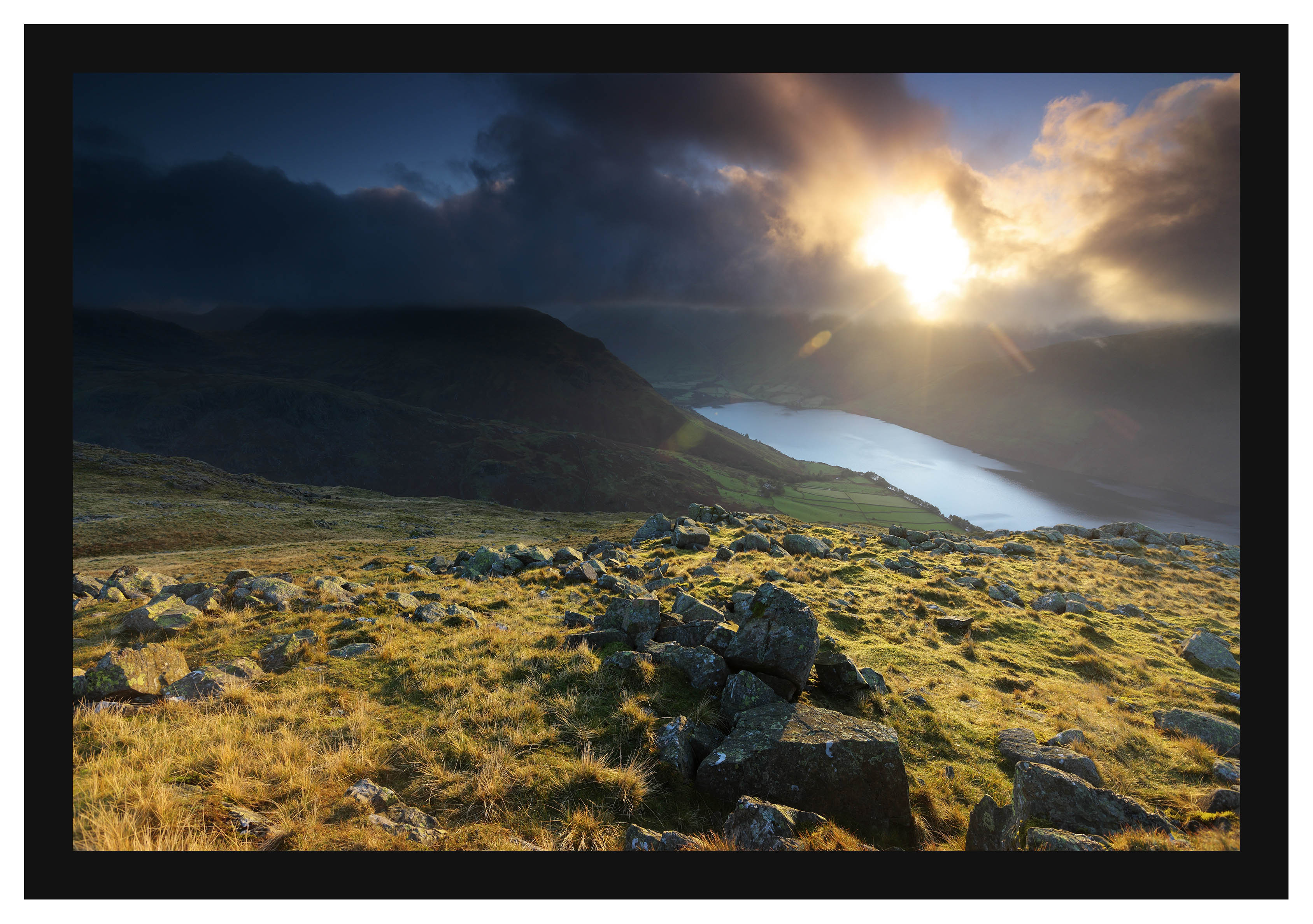 46E7252 First light on Yewbarrow and Wastwater from Middle Fell
