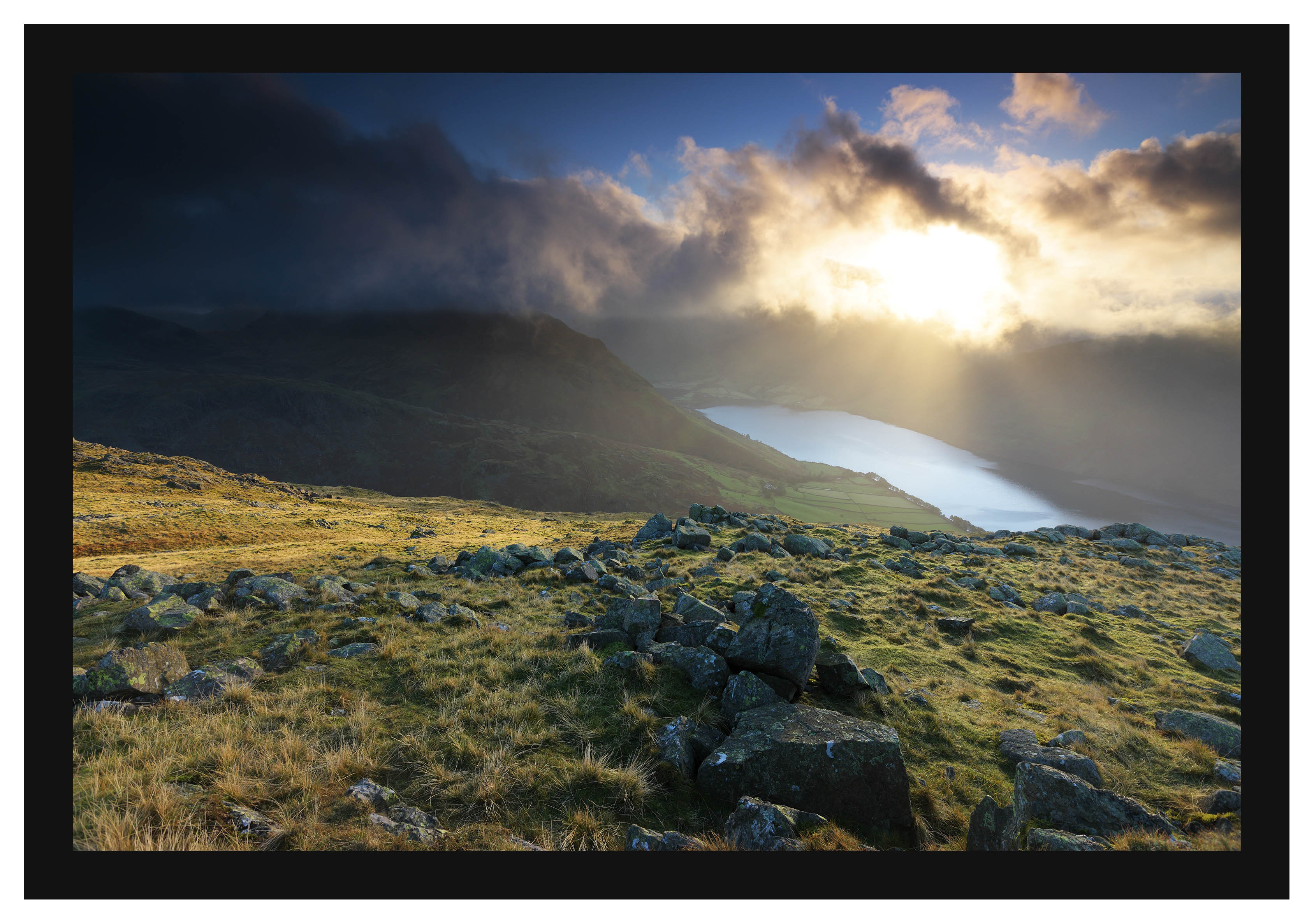 46E7262 First light on Yewbarrow and Wastwater from Middle Fell