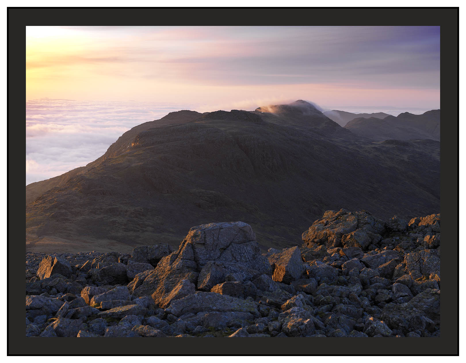 A 02210 Daybreak on Esk Pike and Bowfell
