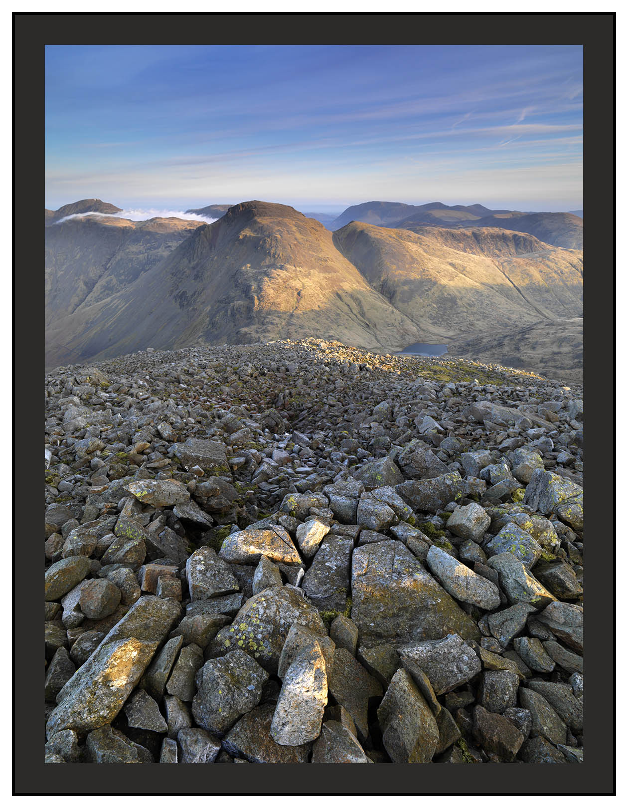 A 02236 First light on Great Gable seen from Great End