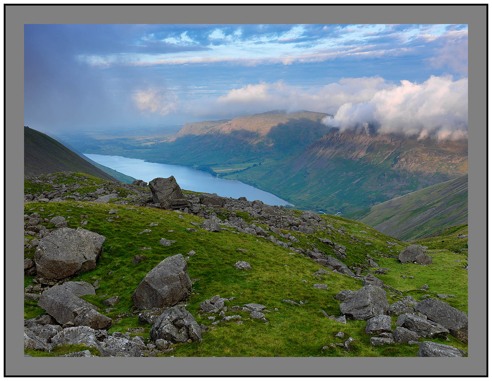 A 5490 Daybreak on Yewbarrow and Wastwater from Hollow Stones