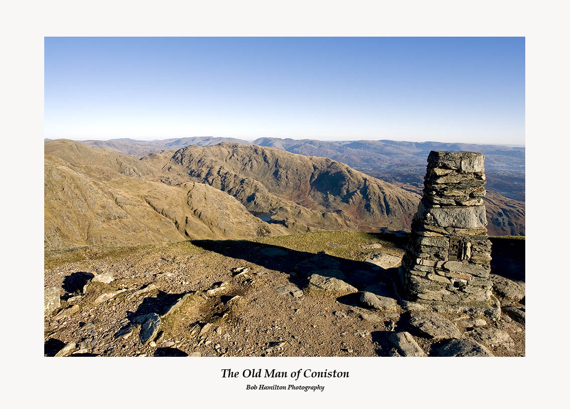 The Old Man of Coniston Summit Cairn