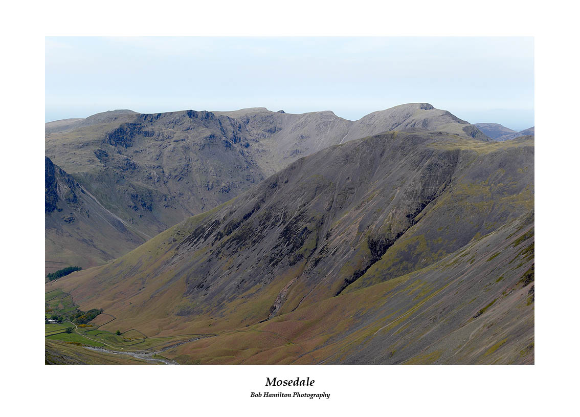 The Mosedale fells seen over Kirk Fell from Great End
