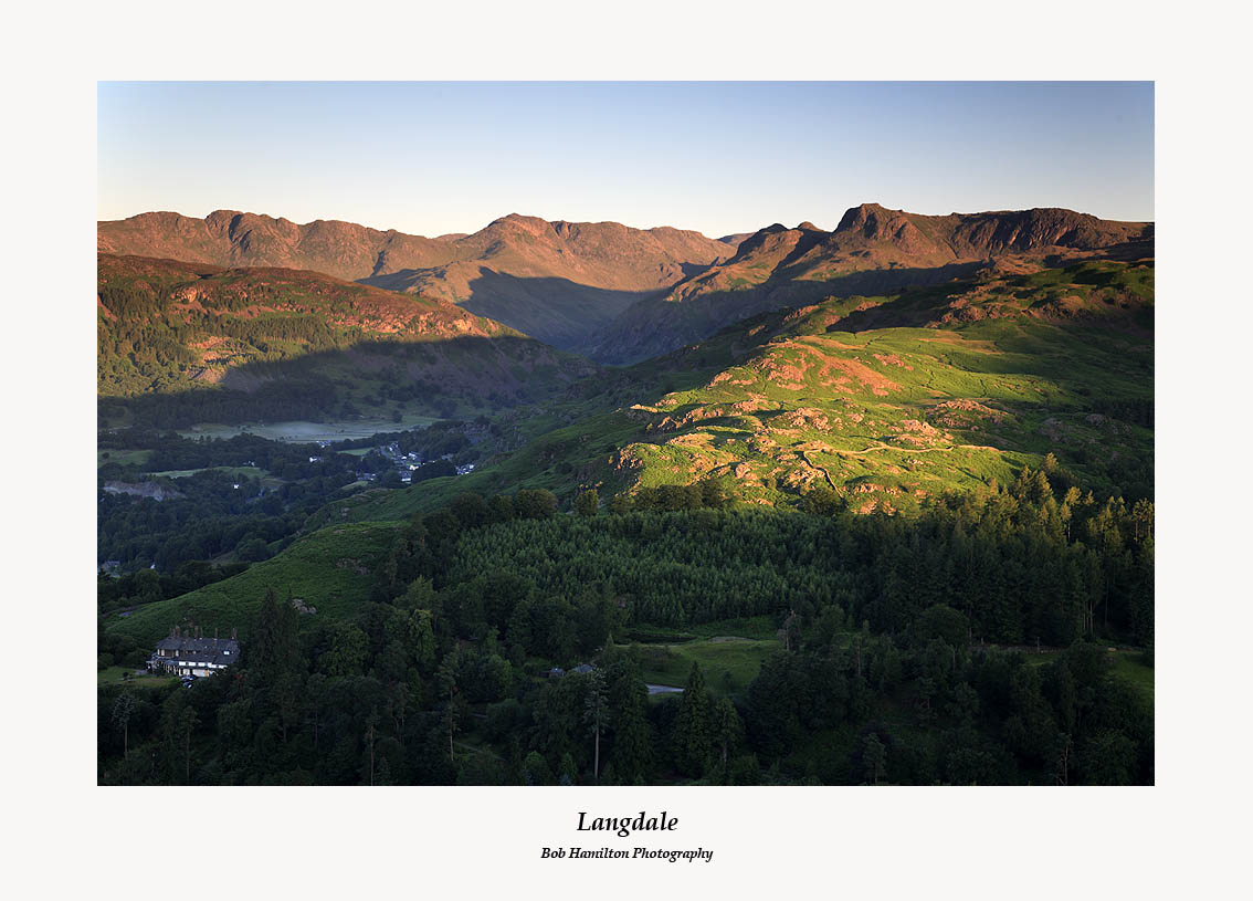 First Light on Langdale from Loughrigg Fell