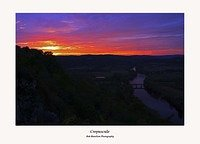 Sunset over the Dordogne from Domme