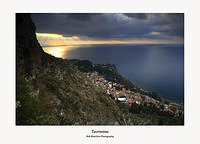 First Light on Taormina and the Ionian Sea from the Castello