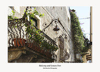 Balcony with Lemon Tree Taormina