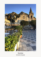 Taormina-Early Morning Light on Piazza IX Aprile