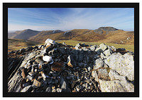 46E7954 The cairn on Meall na Aighean with Carn Mairg Meall Garbh and Carn Gorm in the background