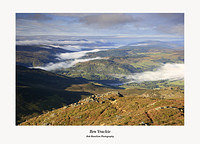 Temperature Inversion over the Tay Valley seen from Ben Vrackie