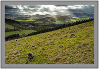 S2014959 Rays of light on Broughton and the Tweedsmuir and Culter fells over Broughton Place from Clover Law