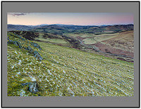 S2015795 Snow capped Broad Law and the Culter Fells seen in pre dawn light from White Meldon