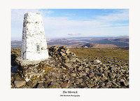 The Merrick summit trig point Galloway Forest park