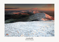 The Pentland Hills-Alpenglow on the northern Pentlands from Carnethy Hill