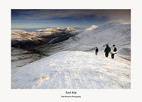 The Pentland Hills-walkers on East Kip