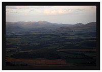 46E4758 Evening light on the Pentlands from Tinto