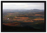 46E4767 Evening light on the Clyde Valley and the Pentlands