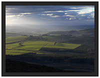 A 02399 The last light of day on the central Scottish plain seen from Tinto Hill