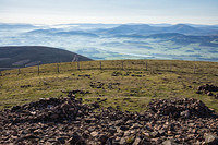 DSC1397 Early morning on Tinto Hill looking east over the Clyde Valley towards the Culter fells
