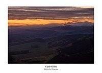 Daybreak on the Clyde Valley from Tinto Hill