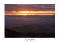 Sunrise over the Clyde Valley from Tinto Hill