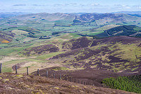 S2017558 Broughton and the Broughton Heights over Kilbucho from Cardon Hill