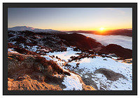 46E0434 Sunrise over Ben Ledi and Loch Venachar seen from Ben A'an