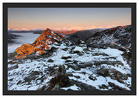 46E0442 Alpenglow on the summit of Ben A'an